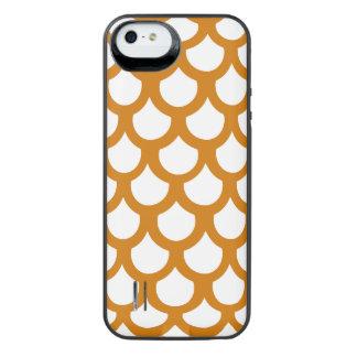 Burnt Orange Fish Scale 1 iPhone SE/5/5s Battery Case