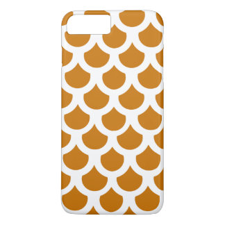 Burnt Orange Fish Scale 2 iPhone 7 Plus Case