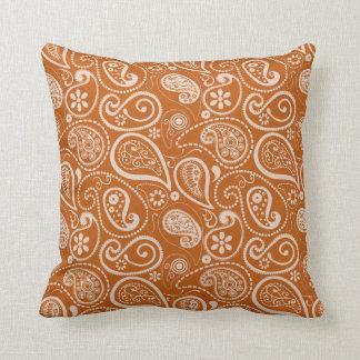 Burnt Orange Paisley; Floral Cushions