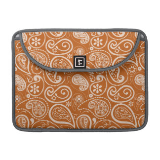 Burnt Orange Paisley; Floral Sleeves For MacBook Pro