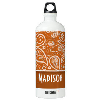 Burnt Orange Paisley; Floral SIGG Traveller 1.0L Water Bottle