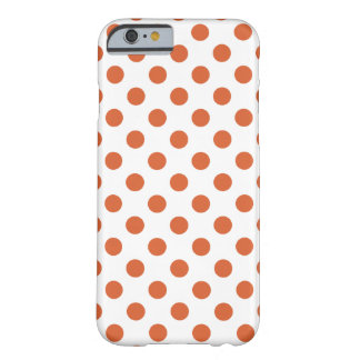 Burnt orange polka dots barely there iPhone 6 case