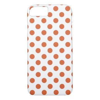 Burnt orange polka dots iPhone 7 case