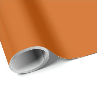 Burnt Orange Premium Color Matched Wrapping Paper