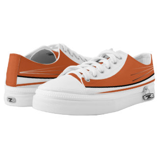 Burnt Orange & White with Black Trim Lo-Top