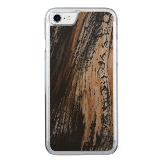 Burnt Tree Bark Texture Carved iPhone 8/7 Case