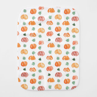 Burp cloth with pumpkin clover and leaves
