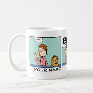 """Burp"" Garfield Comic Strip Basic White Mug"