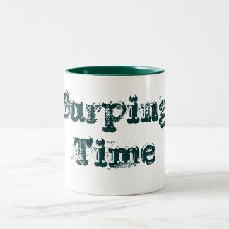 Burping Time, Designs By Che Dean Two-Tone Coffee Mug