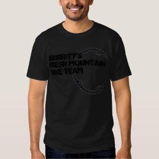 BURRITTS FRESH MOUNTAIN BIKE TEAM TEE SHIRT