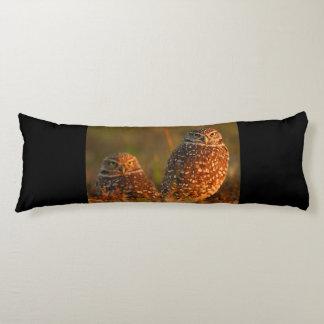 burrowing owl couple body pillow