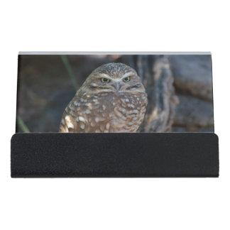Burrowing Owl Desk Business Card Holder