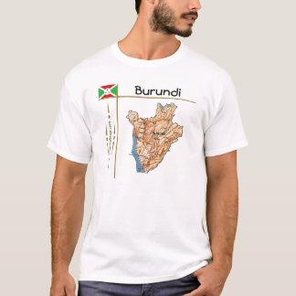 Burundi Map + Flag + Title T-Shirt