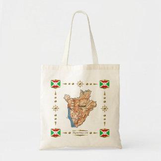 Burundi Map + Flags Bag