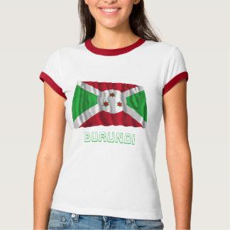 Burundi Waving Flag with Name T-Shirt