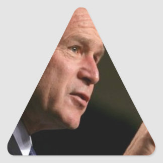Bush deep in discussions triangle sticker