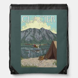 Bush Plane & Fishing - Glacier National Park, MT Drawstring Bag