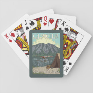 Bush Plane & Fishing - Glacier National Park, MT Playing Cards