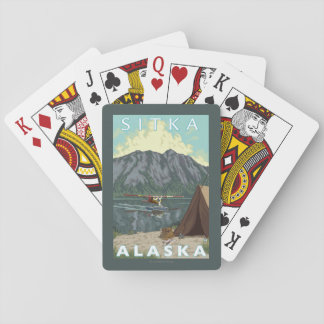 Bush Plane & Fishing - Sitka, Alaska Playing Cards
