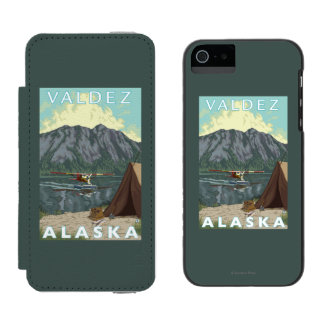 Bush Plane & Fishing - Valdez, Alaska Incipio Watson™ iPhone 5 Wallet Case
