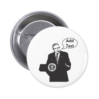 Bush Speech Bubble 6 Cm Round Badge