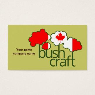 Bushcraft Canada flag Business Card