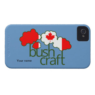 Bushcraft Canada flag Case-Mate iPhone 4 Cases