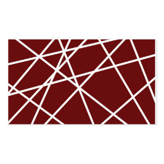 """Business, 3.5"""" x 2.0"""", 100 pack WHITE ABSTRACT LIN Pack Of Standard Business Cards"""