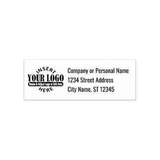 Business Address with Logo Self-inking Stamp