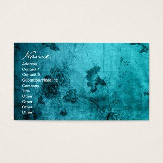 Business Blue Vintage Floral Texture