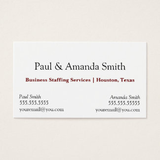 Business Card - 2 names