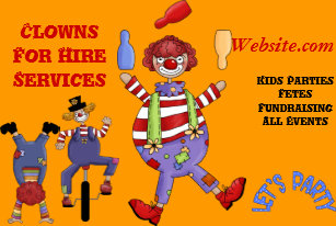 Party clown business cards zazzle nz business card clown for hire party kids colourmoves