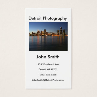 Business Card, Detroit Photography