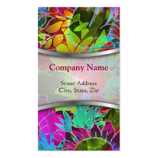 Business Card Floral Abstract Artwork