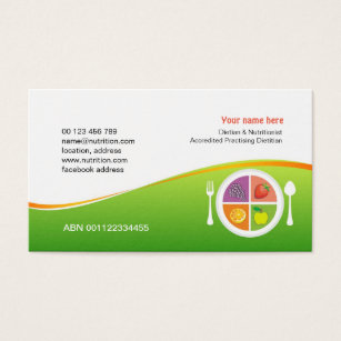 13 abn business cards and abn business card templates zazzle business card for dietician nutritionist reheart Images