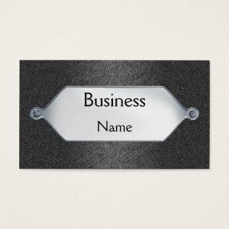 Business Card Grey Sandpaper Silver Metal  Plaque