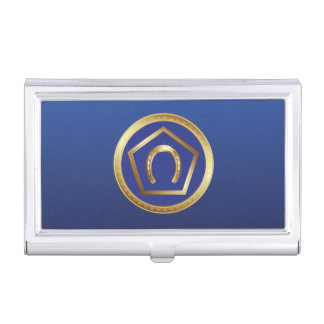 Business Card Holder: Germanna Foundation Logo Business Card Case