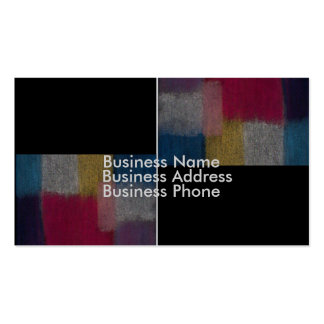 Business Card with Abstract Design