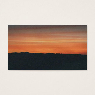 Business Card with Sunset Mountain View