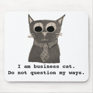 Business Cat Mouse Pad