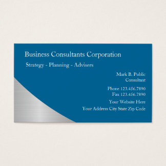 Business Consulting Business Cards