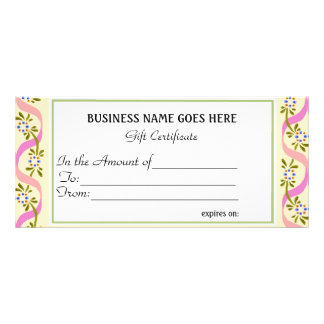 Business Gift Certificate   Rack Card