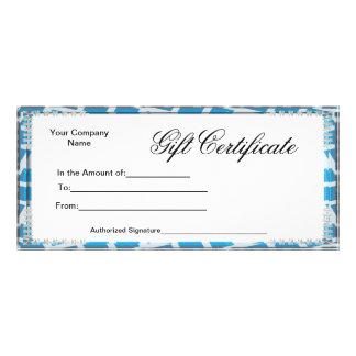 Business Gift Certificates Rack Card Postcard