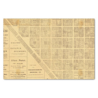 "Business Map of San Francisco 10"" X 15"" Tissue Paper"
