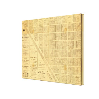 Business Map of San Francisco Gallery Wrap Canvas