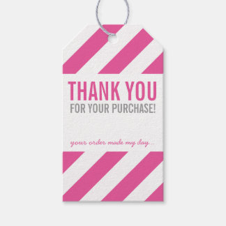 BUSINESS PACKAGING THANK YOU bold stripe pink