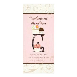 Business Rate Card - Letter C Monogram Dessert Bak Personalised Rack Card