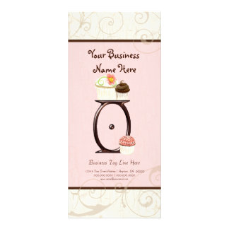 Business Rate Card - Letter O Monogram Dessert Bak