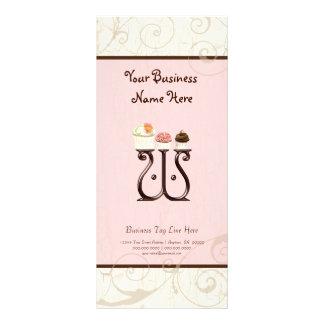 Business Rate Card - Letter W Monogram Dessert Bak