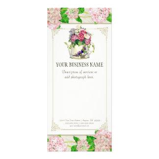Business Rate Card - Rose Hydrangea Florist Floral Rack Card Template